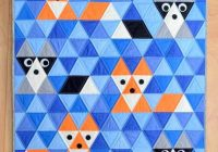 Cozy 13 free triangle quilt patterns for beginners coral co Stylish Quilts With Triangles Inspirations