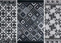 Cozy 3 free black and white quilt patterns quilting daily New Black And White Quilt Patterns