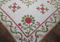Cozy amazing christmas 1850s antique applique red green quilt Cool Antique Applique Quilt Patterns