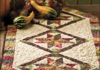 Cozy autumn stars quilted table runner pattern es00140 10 Interesting Quilt Table Runner Patterns Inspirations