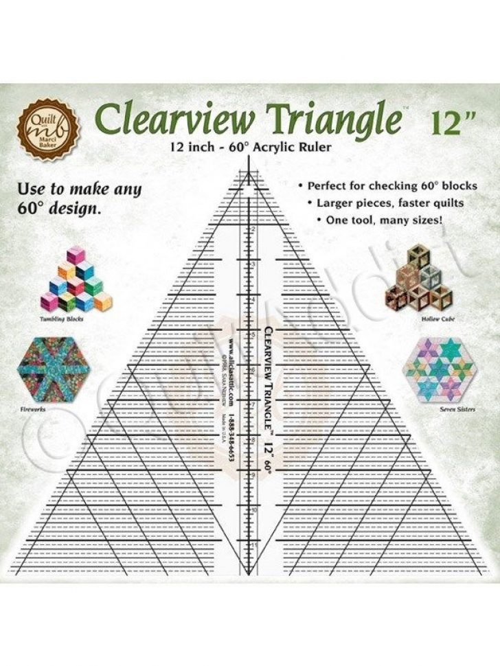 Permalink to 10 Stylish 60 Degree Triangle Quilting Ruler Gallery
