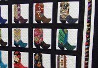 Cozy cowboy boot quilt seen at arizona quilt show cowboy quilt 10 Modern Cowboy Boot Quilt Pattern Inspirations