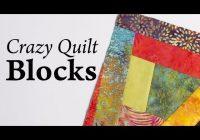 Cozy crazy quilt blocks youtube Crazy Quilt Patterns Ideas Inspirations