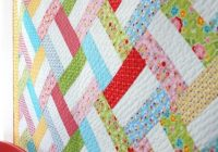 Cozy easy strip quilt pattern from woodberryway quiltstory Beautiful Strip Quilt Patterns For Beginners Inspirations