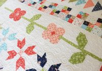 Cozy flower quilt blocks small quilts mini quilts a quilting life 10 Interesting Flower Patchwork Quilt Patterns