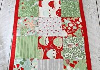 Cozy how to make a simple table runner christmas table runner Cool Simple Quilted Table Runner Patterns