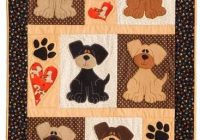 Cozy i love puppy dogs quilt dog quilts applique quilt 9 Beautiful Dog Quilting Pattern Inspirations