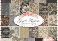 Cozy i love this fabric line gentle flowers glamorous gray 10   Quilt Gate Gentle Flowers Fabric Inspirations