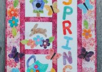 Cozy its a spring thing quilt pattern frd 1120 advanced 11 Beautiful Quilted Wall Hanging Pattern Inspirations