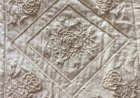 Cozy lovely candlewick quilt in shades of cream handmade quilts 9 New Candlewick Quilt Patterns
