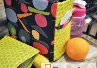 Cozy lunch bags you can sew 33 easy tutorials for cute eco 11 New Quilted Lunch Bag Pattern Inspirations