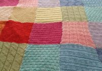 Cozy patchwork blanket pattern knit sew make 11 Modern Knitted Patchwork Quilt Patterns