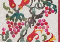 Cozy patricia b campbell jacobean arbor american quilters Stylish Pat Campbell Applique Quilt Pattern