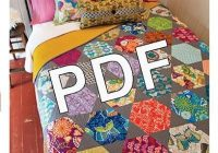 Cozy pdf download rosalie quilt pattern valori wells 11 Cool Large Hexagon Quilt Pattern Gallery