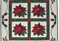 Cozy poinsettia garden quilt pattern 11 Stylish Poinsettia Quilt Pattern Inspirations