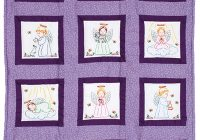 Cozy precious angels 9 prestamped quilt blocks 9 Modern Embroidered Quilt Patterns Inspirations