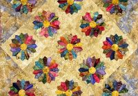 Cozy quilt inspiration dresden plate quilts 11 Interesting Dresden Plate Quilt Pattern Inspirations