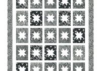 Cozy quilt inspiration free pattern day black and white quilts New Black And White Quilt Block Patterns Gallery