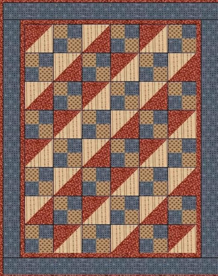 Permalink to 11 Modern Quilt Patterns Using 4 Fabrics Gallery