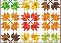 Cozy scrappy maple leaves quilt leila gardunia 9 Elegant Maple Leaf Quilt Patterns Inspirations