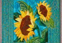 Cozy sunflower quilt 9   Sunflower Quilt Block Pattern