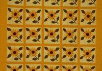 Cozy sunflower quilt free quilt patterns 9   Sunflower Quilt Block Pattern