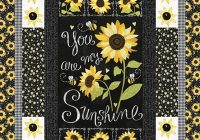 Cozy sunshine sunflowers quilt pattern 9   Sunflower Quilt Block Pattern