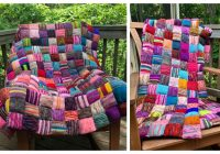 Cozy the beekeepers quilt blanket knitting pattern free paid 11 Modern Knitted Patchwork Quilt Patterns
