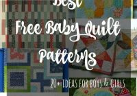 Cozy the best free ba quilt patterns so sew easy New Patchwork Baby Quilt Pattern Inspirations