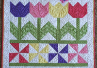 Cozy tulip time quilt is a breeze to make quilting digest 9   Tulip Quilt Block Pattern Inspirations