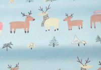 Cozy us 061 48 offbooksew christmas deer design 100 cotton twill fabric cloth quilting bedsheet ba pillow sewing patchwork doll craft tissufabric 11 Modern Deer Fabric For Quilting Inspirations