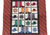 Cozy western quilt patterns cowboy boots and hats cowboy quilt 10 Modern Cowboy Boot Quilt Pattern Inspirations