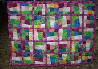crazy nine patch quilt for single bed sewn up 10 Unique Crazy 9 Patch Quilt Pattern Gallery