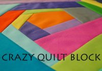 crazy quilt block tutorial Interesting Crazy Quilt Block Pattern Gallery