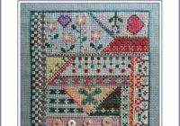 crazy quilting june quilt block cross stitch pattern Stylish Cross Stitch Quilt Patterns Inspirations