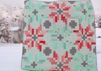 create the perfect wintry scene with this two color norway Interesting Norwegian Quilt Patterns