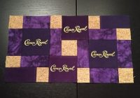 crown royal quilts patterns gold block use purple with Modern Crown Royal Quilt Patterns Gallery