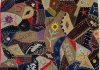 dated and signed 1887 crazy crib quilt sold cindy rennels Unique Vintage Quilts For Sale