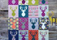 deer silhouette quilt Unique Silhouette Quilt Patterns