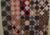 details about gorgeous vintage diamond in a square garden Cool Elegant Civil War Quilt Fabric