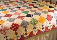 diamond patch quilt pattern comes in 3 sizes handmade Elegant Vintage Patchwork Quilts