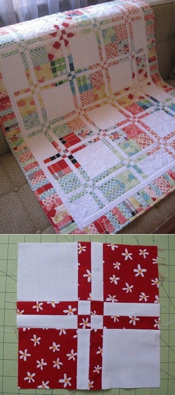 Permalink to Interesting Disappearing 4 Patch Quilt Pattern