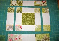 disappearing 9 patch variation block with charm squares Nine Patch Quilt Pattern Variations