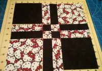 disappearingfourpatchquiltpattern hello kitty Modern Hello Kitty Quilt Block Pattern Gallery