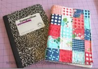 diy patchwork journal cover confessions of a homeschooler 10 Modern Quilted Book Cover Pattern
