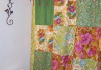 diy quilted shower curtain love the ties quilt Stylish Quilted Curtain Patterns