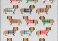 dogs in sweaters quilt sewing pattern elizabeth hartman Cool Elizabeth Hartman Quilt Patterns Gallery