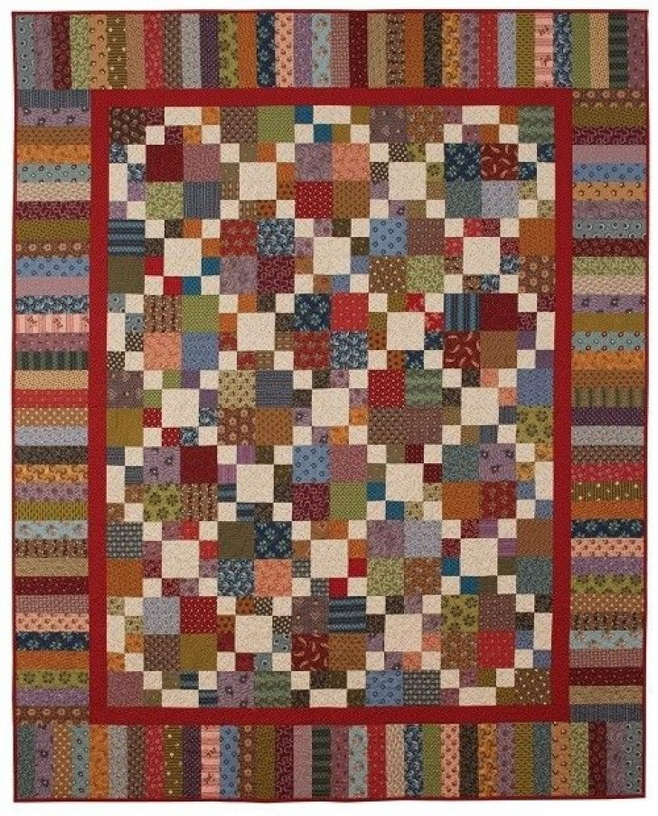 Permalink to Elegant Double Four Patch Quilt Pattern Gallery