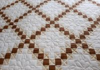 double irish chain quilt amish made traditional pattern Cozy Double Irish Chain Quilt Pattern Gallery