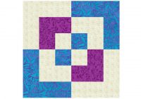 easy 12 inch bento box quilt block pattern Cozy Block In A Block Quilt Pattern